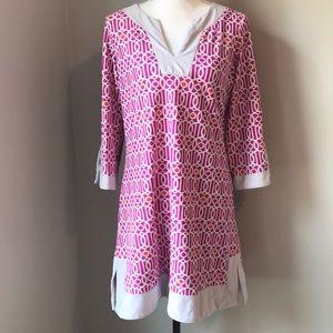 Jude Connally lattice shift dress size Large